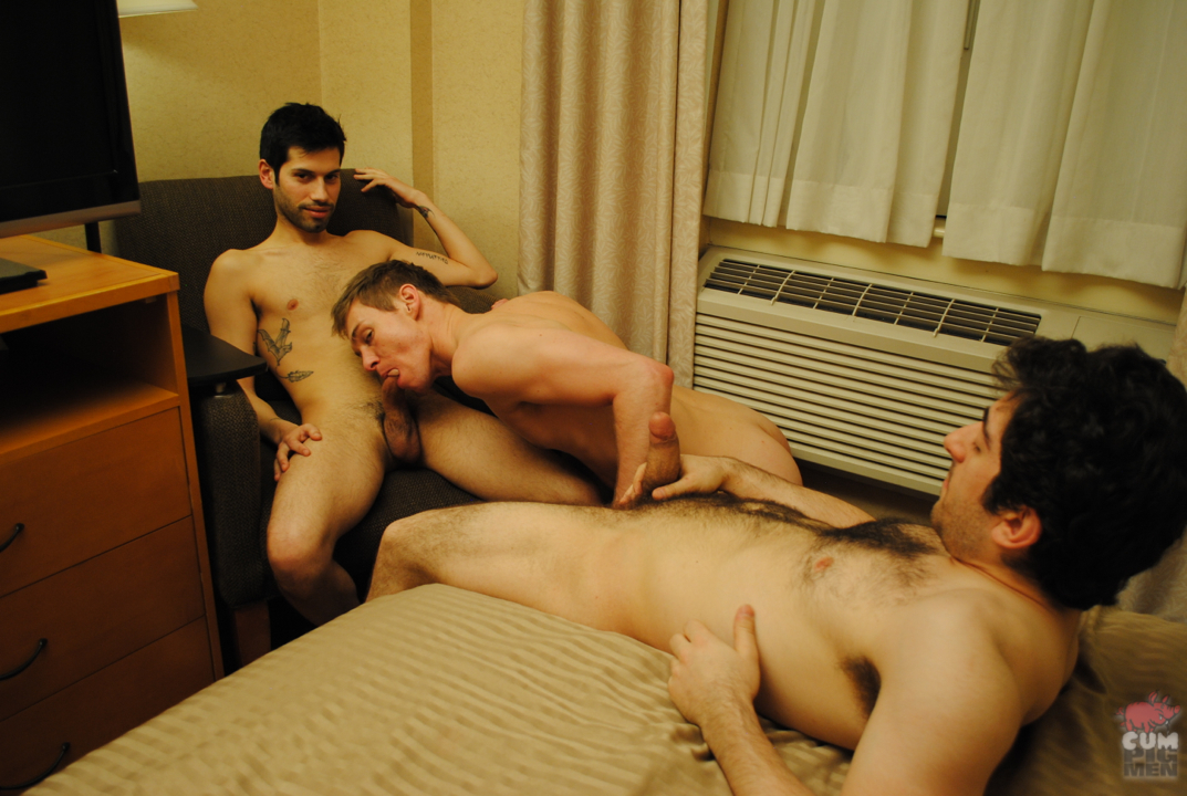 CumPigMen-Archer-Adams-and-Dani-and-Adam-Moon-Cock-Sucking-and-Cum-Eating-Threeway-08 Cum EatingThree Way Anonymous Amateur Cheap Hotel Hookup