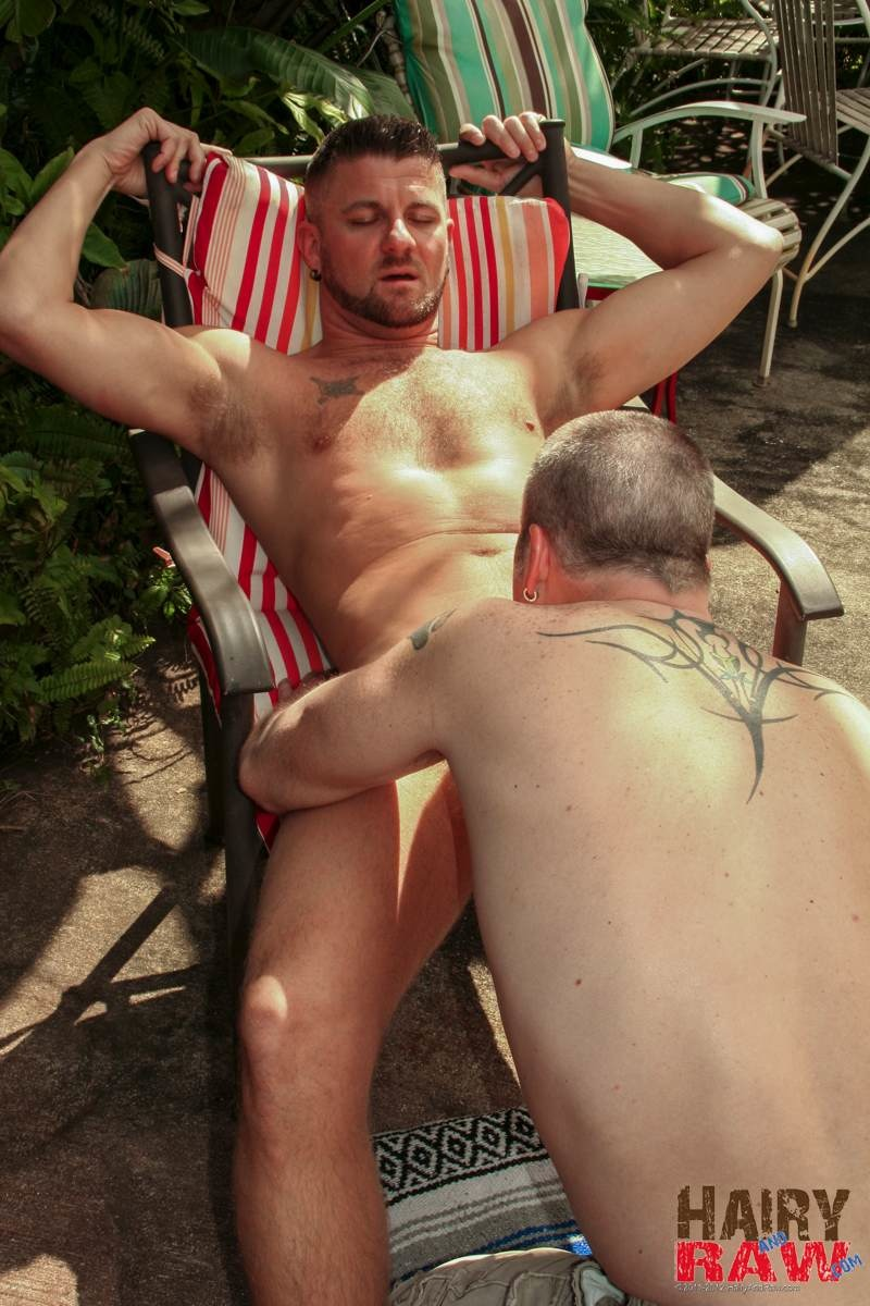 Hairy-and-Raw-Christian-Matthews-and-Alex-Powers-Hairy-Daddy-Bears-Barebacking-Outside-Amateur-Gay-Porn-01 Amateur Hairy Daddy Barebacks His Younger Friend In the Backyard