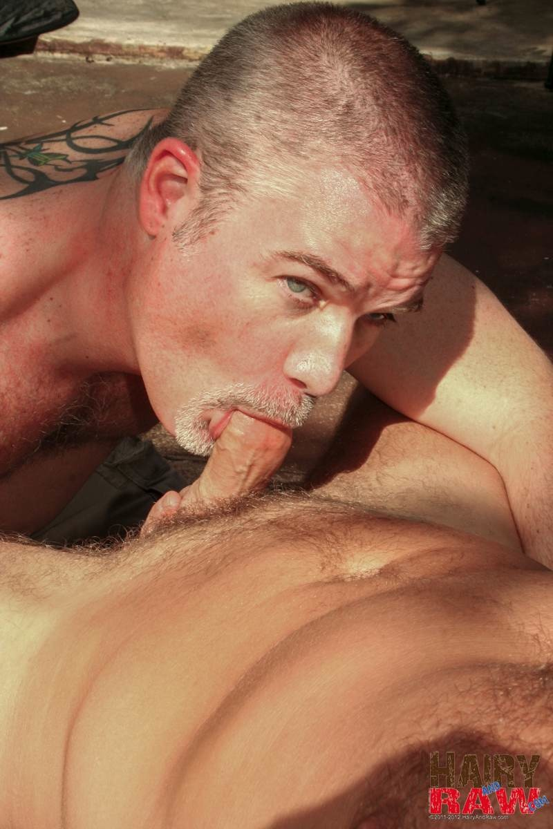 Hairy-and-Raw-Christian-Matthews-and-Alex-Powers-Hairy-Daddy-Bears-Barebacking-Outside-Amateur-Gay-Porn-02 Amateur Hairy Daddy Barebacks His Younger Friend In the Backyard