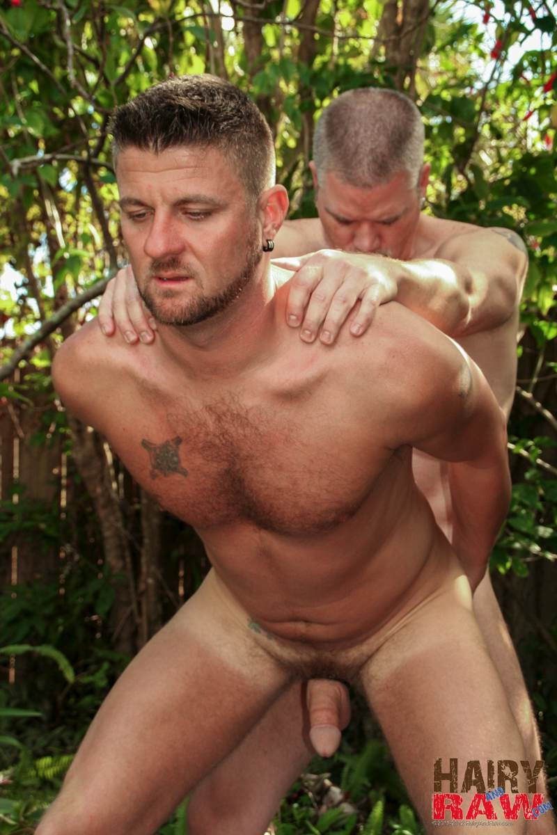 Hairy-and-Raw-Christian-Matthews-and-Alex-Powers-Hairy-Daddy-Bears-Barebacking-Outside-Amateur-Gay-Porn-09 Amateur Hairy Daddy Barebacks His Younger Friend In the Backyard