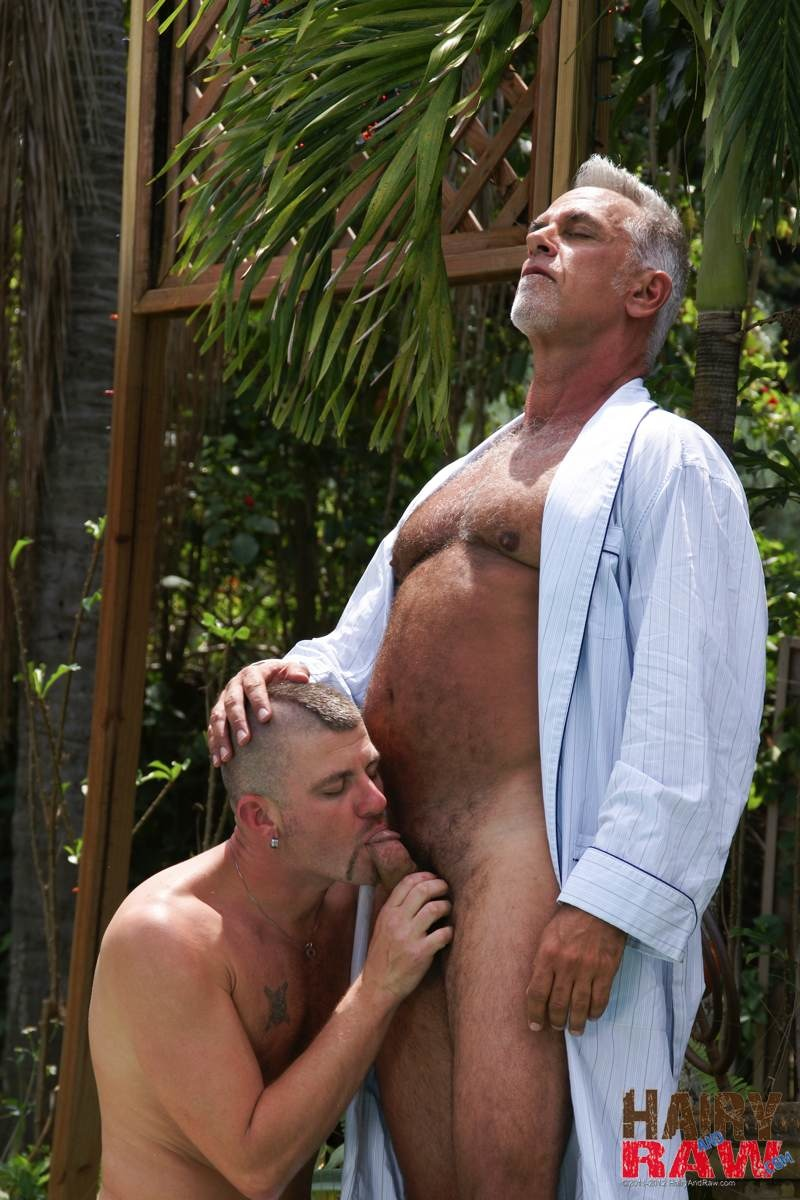 Hairy and Raw Daddy Jeff Grove and Christian Matthews Bareback BBBH Amateur Gay Porn 02 Amateur Hairy Silver Daddy With Thick Cock Barebacks His Hung Pool Boy