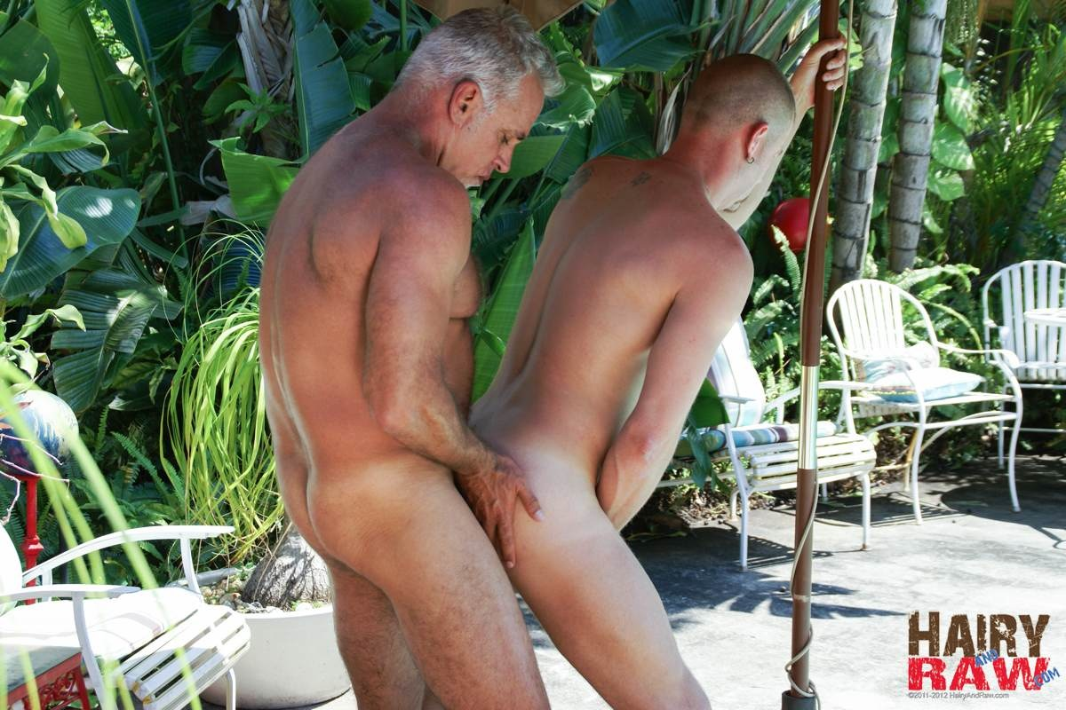 Hairy and Raw Daddy Jeff Grove and Christian Matthews Bareback BBBH Amateur Gay Porn 10 Amateur Hairy Silver Daddy With Thick Cock Barebacks His Hung Pool Boy