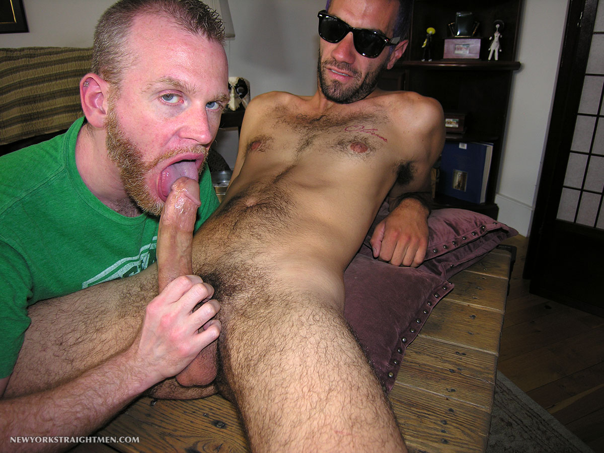 New York Straight Men Straight Hipster Gets His Cock Sucked Amateur Gay Porn 08 Straight NYC Hipster With Hairy Cock Gets His First Blow Job From A Guy