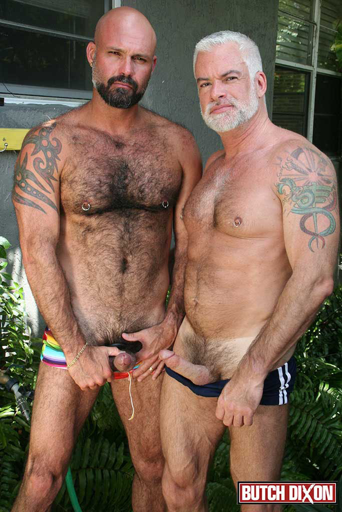 Butch-Dixon-Jake-Marshall-and-Marco-Rios-Silver-Daddy-Fucks-His-Cub-Amateur-Gay-Porn-06 Muscle Silver Daddy Jake Marshall Fucks His Younger Hairy Boyfriend