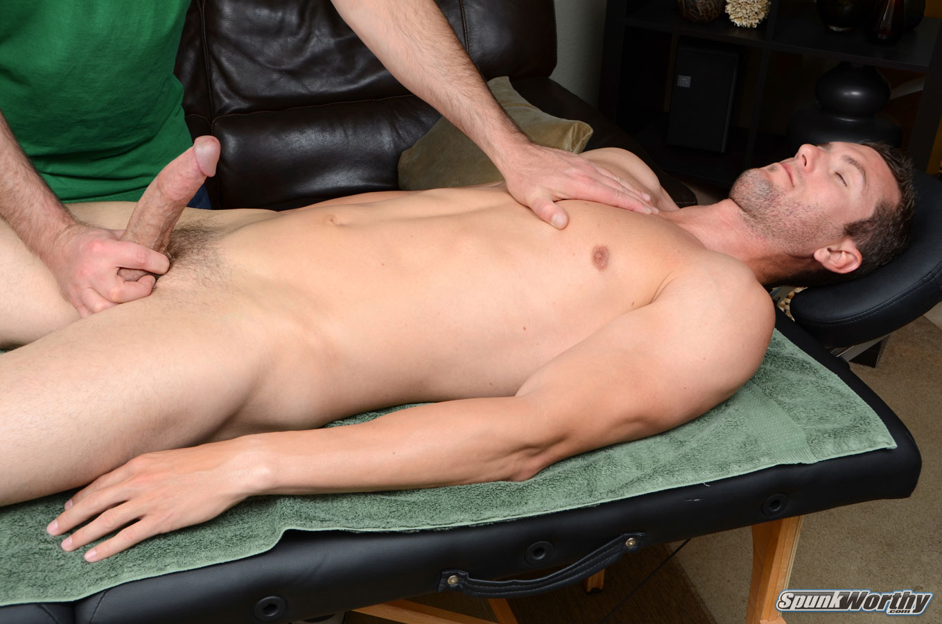 Straight Guy Massaged By Stud