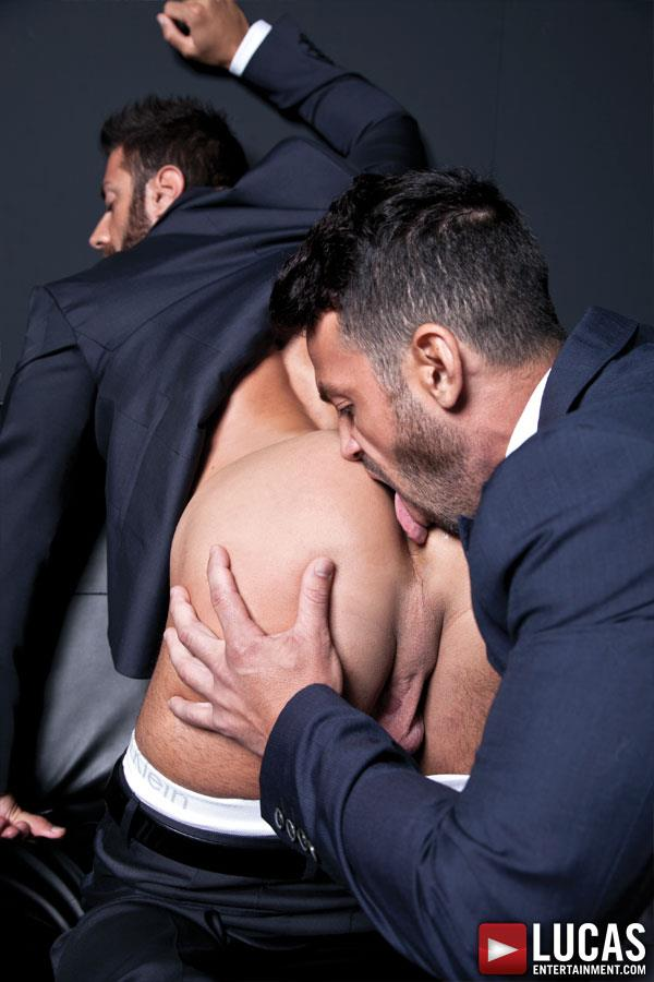 Lucas Entertainment Adriano Carrasco and Valentino Medici Huge Uncut Cocks Men In Suits Fucking Amateur Gay Porn 05 Hunks In Business Suits With Big Uncut Cocks Fucking Hard