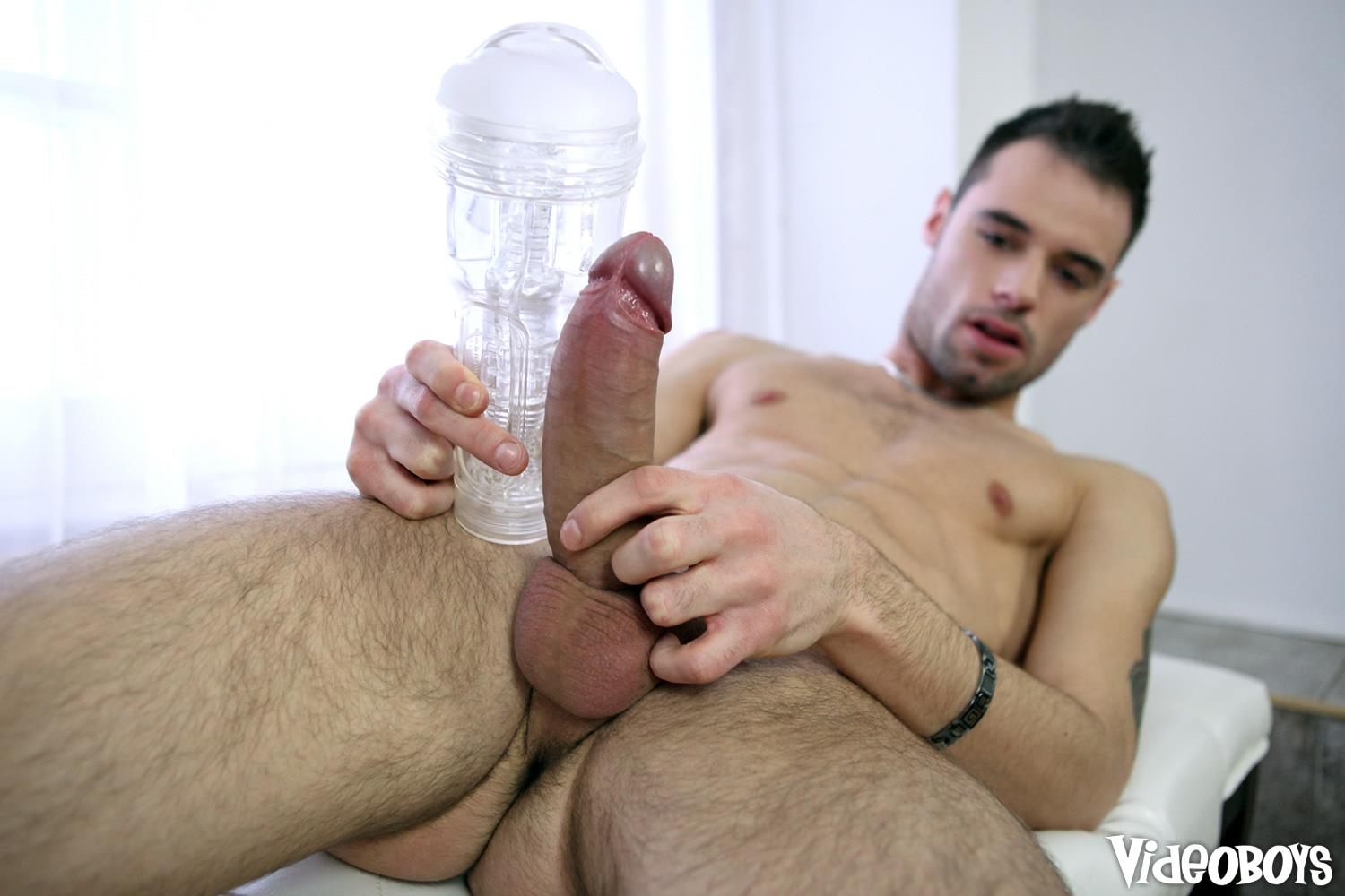 VideoBoyz-Marco-Gagnon-Huge-Uncut-Cock-In-A-Fleshlight-Amateur-Gay-Porn-10 Horny Young Guy Busts Open A Fleshlight With His Big Uncut Cock