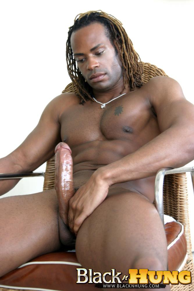 BlacknHung-Marlone-Starr-Hung-Black-Guy-Jerking-His-Big-Black-Cock-Amateur-Gay-Porn-11 Amateur Black Muscle Hunk Marlone Starr Jerks His Big Black Cock