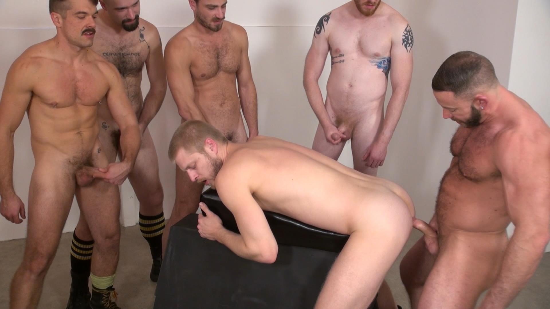 Raw and Rough Bareback Gay Sex Orgy Amateur Gay Porn 05 Six Hairy Hung Guys Pounding A Bottom At A Bareback Sex Party