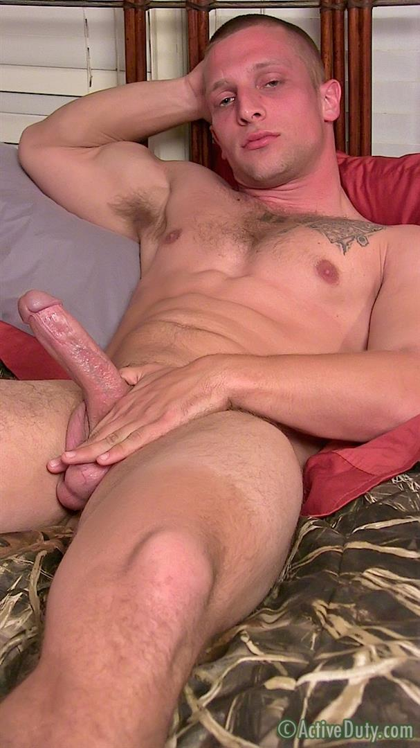 Active Duty Muscle Bi Sexual Niko US Army Soldier Jerking His Big Cock Amateur Gay Porn 14 Amateur 23 Year Old US Army Hunk Jerks His Thick Cock
