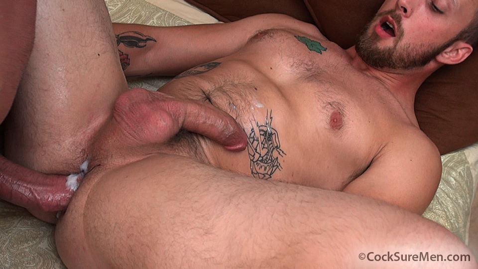 "Cocksure Men Brett Bradley and Dustin Steele Cowboy gets fucked bareback in the ass Amateur Gay Porn 12 Brett Bradley Breeding A Cowboy With His 10"" Thick Cock"