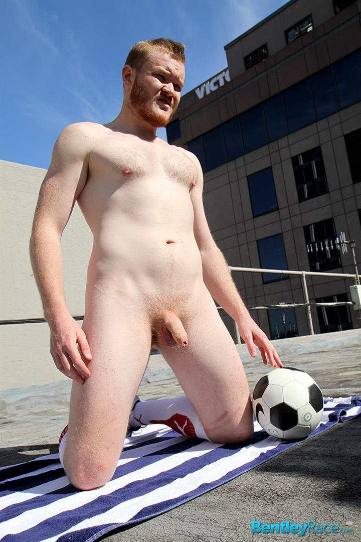 Bentley Race Beau Jackson Beefy Redhead Jerking His Big Uncut Cock Amateur Gay Porn 27 Redhead Aussie Soccer Player Naked and Stroking A Big Uncut Cock