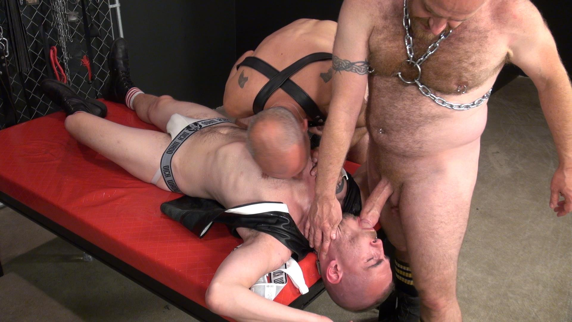 Raw and Rough Nick Roberts and Jason Stormme and Super Steve Bareback Bathhouse Amateur Gay Porn 09 Jason Stormme Gets His Ass Spread Raw With 2 Bareback Cocks