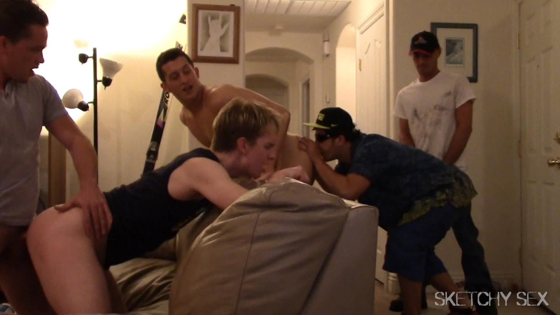 Sketchy Sex Anonymous Bareback Sex Party Amateur Gay Porn 02 What Happens When 2 Bottoms Host An Anonymous Bareback Sex Party?