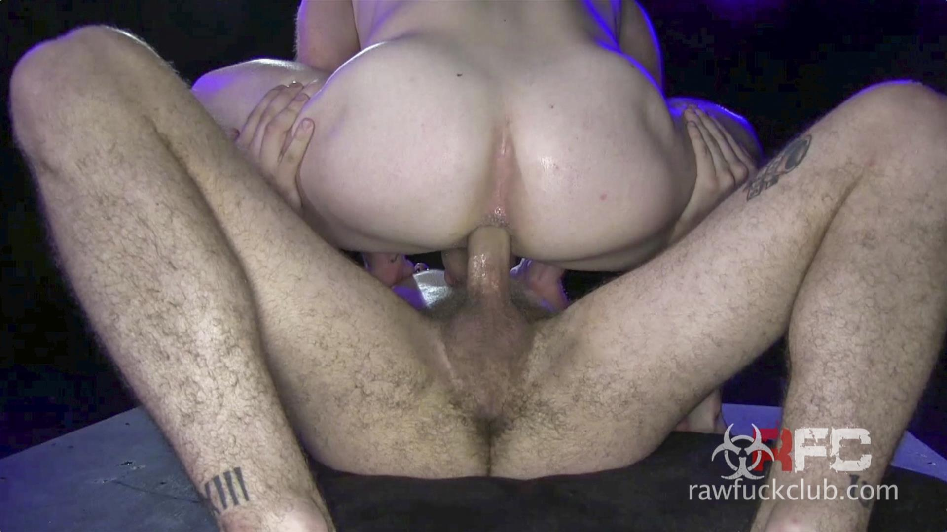 Raw Fuck Club Saxon West and Luke Harding Big Dick Bareback Sex Amateur Gay Porn 4 Luke Harding Breeding Saxon Wests Muscular Ass