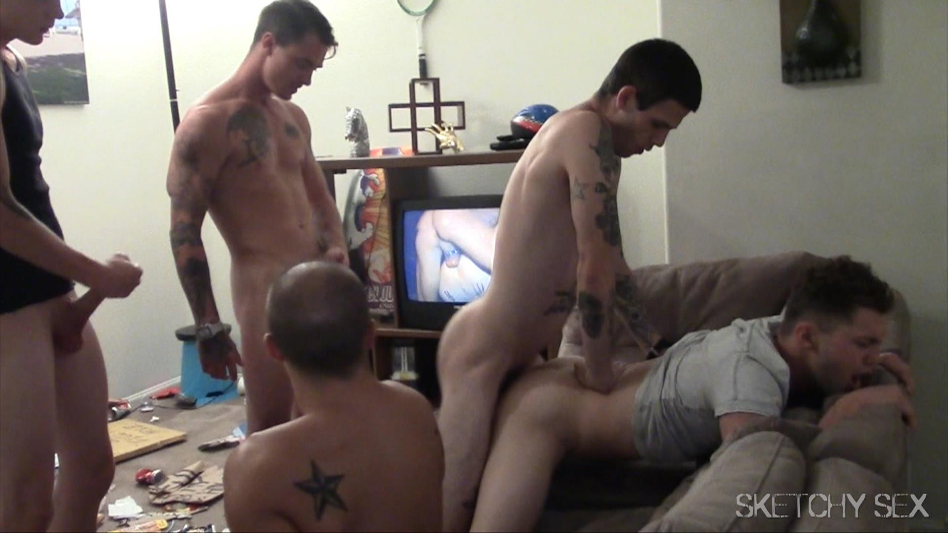Sketchy-Sex-Bareback-Breeding-Party-Amateur-Gay-Porn-14 Hosting An Anonymous Bareback Breeding Party