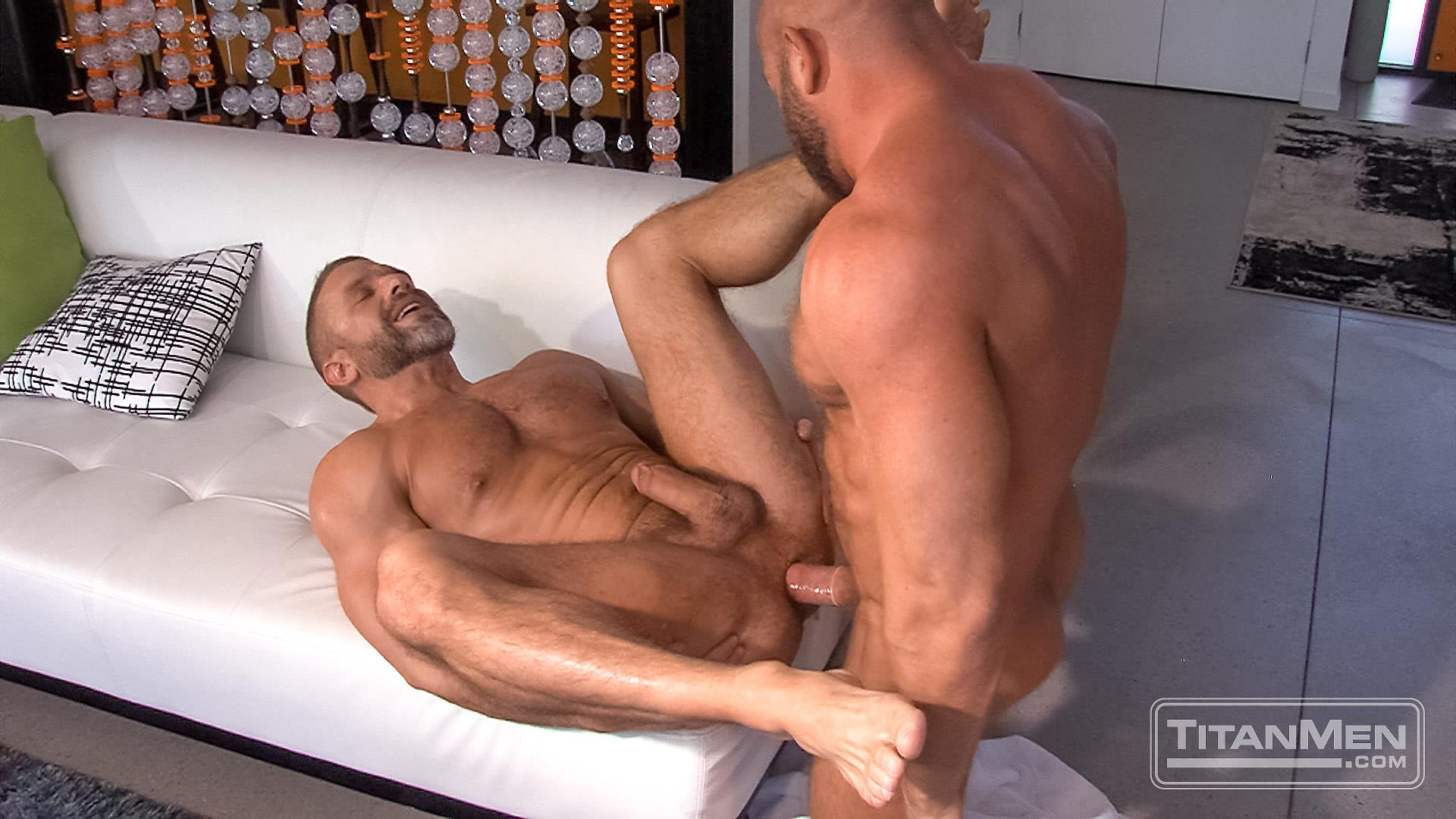 Titanmen Titan Hunter Marx and Dirk Caber Hairy Muscle Daddy Fuck Amateur Gay Porn 41 Dirk Carber Gets Fucked Hard By Another Muscle Daddy With A Thick Cock