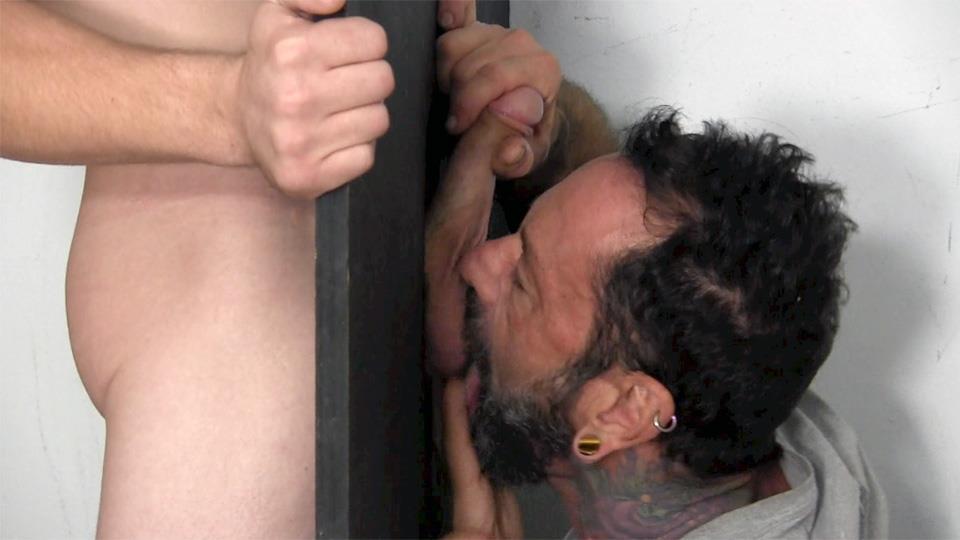 Straight Fraternity Donny Forza Straight Guy Getting Sucked Through Gloryhole Amateur Gay Porn 07 Donny Forza Gets His Big Dick Sucked Through A Gloryhole