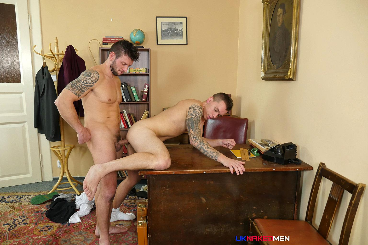 UK-Naked-Men-Rado-Zusila-and-Mickey-Rush-Uncut-Cock-Bareback-Amateur-Gay-Porn-12 Younger British Guy Takes An Uncut Cock Up The Ass Bareback For The First Time