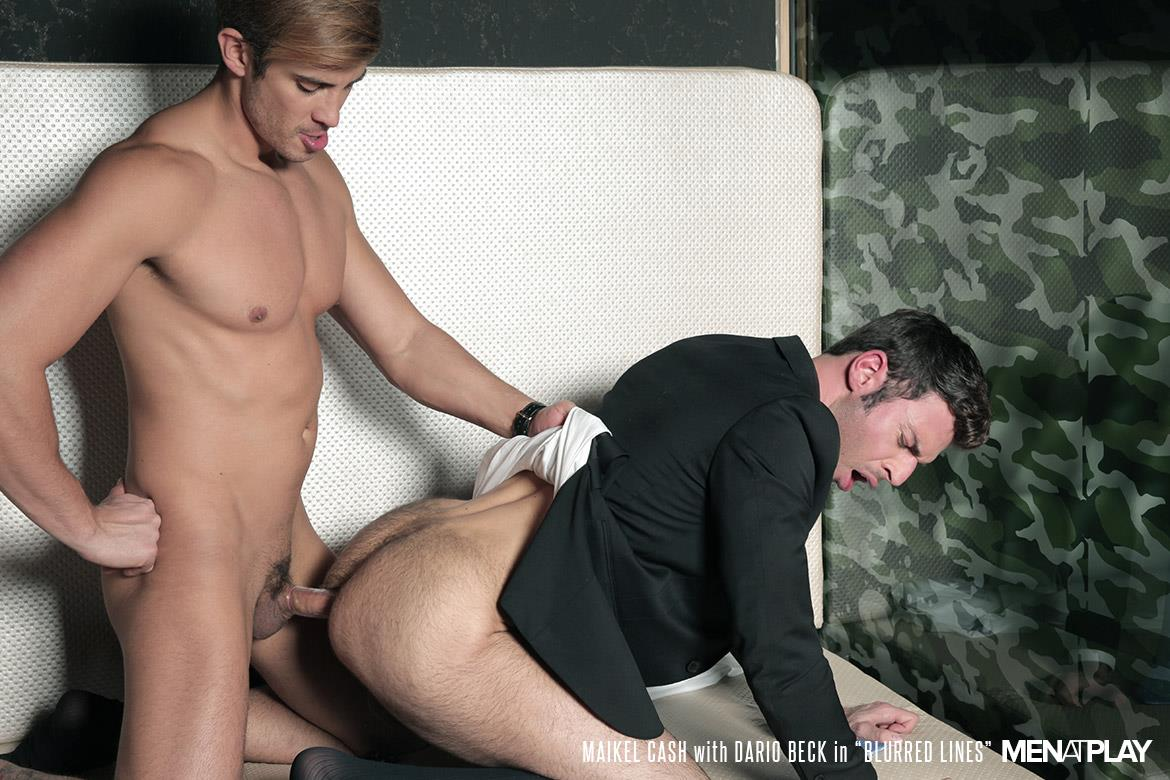 Men At Play Dario Beck and Maikel Cash Guys In Suits Fucking Amateur Gay Porn 29 Dario Beck Gets His Hairy Ass Fucked By Maikel Cashs Thick Uncut Dick