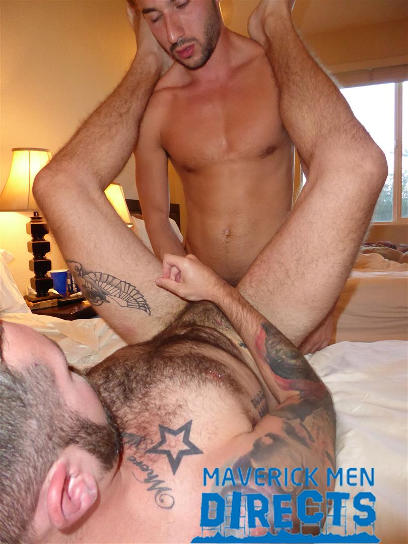 Maverick-Men-Directs-Real-Guys-Having-Bareback-Sex-Free-Video-13 Spit On That Hairy Hole And Bareback That Ass