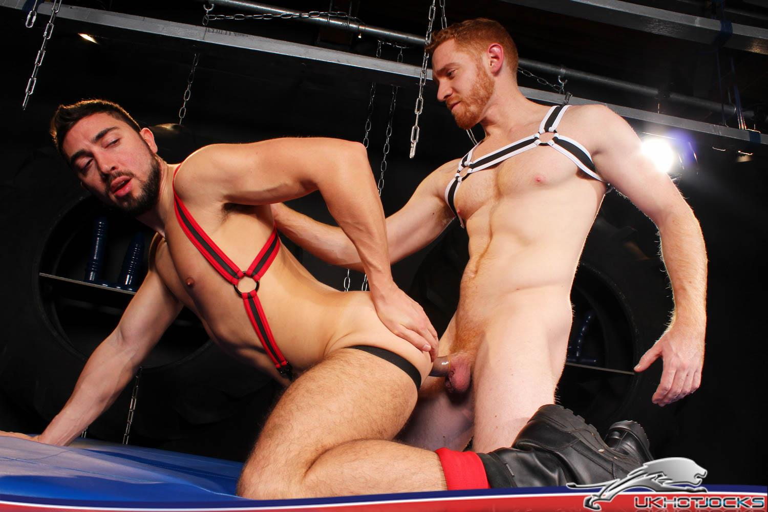 UK Hot Jocks Gaston Croupier and Leander Big Uncut Ginger Cock 20 Gaston Croupier Takes Leanders Big Uncut Cock And A Huge Dildo!
