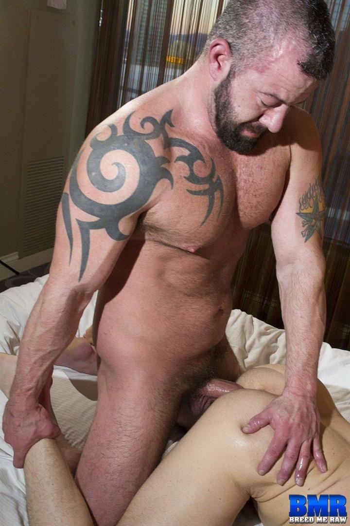 Breed-Me-Raw-Adam-Ryker-and-Jacob-Durham-Bareback-Daddy-Sex-32 Hairy Muscle Daddy Adam Ryker Breeds Jacob Durham