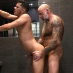 Victor-Cody-XXX-Nate-Pierce-and-Cesar-Xes-Bareback-Bathhouse-Sex-14-150x150 Getting Fucked By A Hairy Daddy In The Bathhouse Shower
