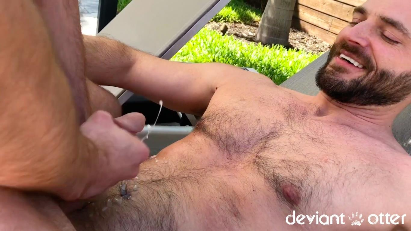 Deviant-Otter-Jake-Naked-Hairy-Guys-Amateur-Bareback-Sex-12 Outdoor Bareback Flip Fucking With The Deviant Otter