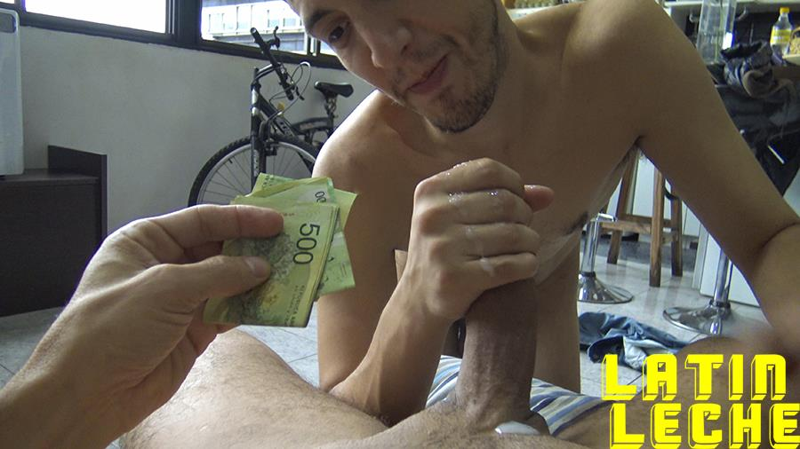 Latin-Leche-Straight-Latino-Big-Uncut-Cock-First-Time-Gay-Bareback-Sex-18 Big Uncut Dick Straight Latino Becomes A Gay Cum Dump For Money