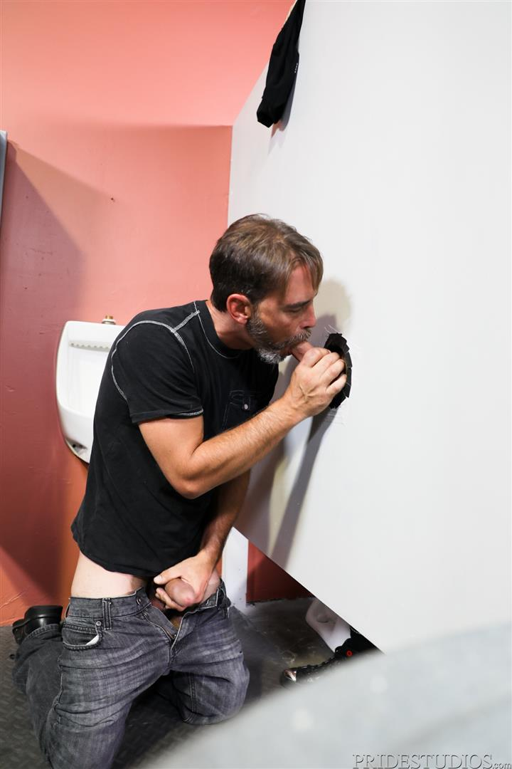 Men-Over-30-Joe-Parker-and-Jack-Andy-Sucking-Daddy-Dick-At-A-Gloryhole-03 Sucking A Thick Daddy Cock At A Gloryhole In A Public Bathroom