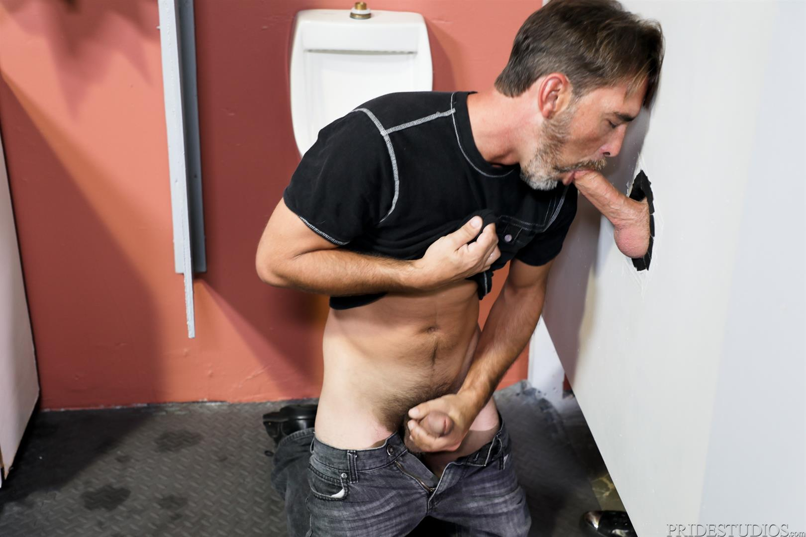 Men-Over-30-Joe-Parker-and-Jack-Andy-Sucking-Daddy-Dick-At-A-Gloryhole-04 Sucking A Thick Daddy Cock At A Gloryhole In A Public Bathroom