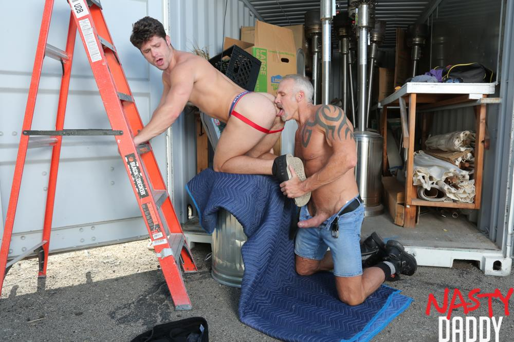 Nasty-Daddy-Dallas-Steele-and-Devin-Franco-Big-Dick-Daddy-Bareback-Gay-Sex-Video-05 Pig Trainer Daddy Dallas Steele Gives Devin Franco Hard Lessons