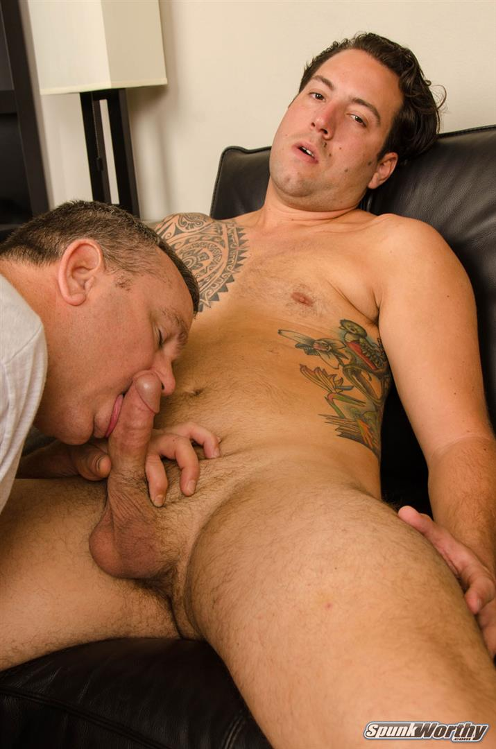 SpunkWorthy-Naked-Marine-Getting-First-Blowjob-From-Guy-05 Straight Marine Gets His First Ever Blowjob From Another Man