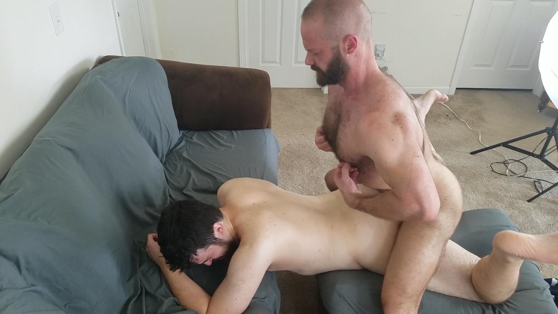 Topher-Phoenix-and-MuscleBul-and-David-Coyote-Daddies-Breeding-A-Chubby-Cub-05 Topher Phoenix and MuscleBull Take Turns Breeding Chubby Cub David Coyote
